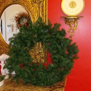 "1023 Joy Mangano Holiday Evergreen 36"" Wreath"